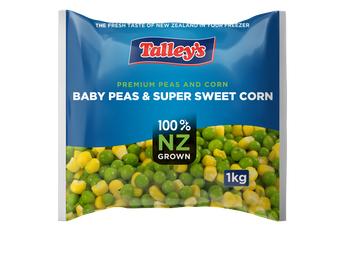 Talleys Baby Peas And Super Sweet Corn Mockup