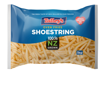 Talleys Shoestring Fries 1Kg Mockup Bag